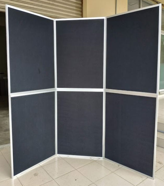 6P-folding display board - 6 panel-6 feet - BLACK