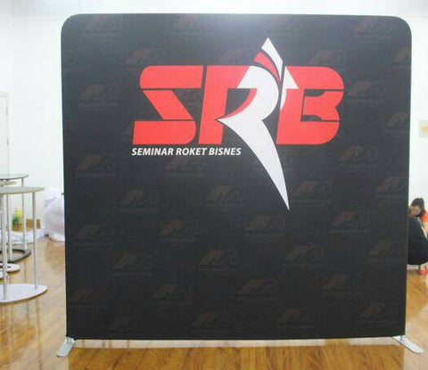 Tension Fabric Backdrop  Straight 8 feet