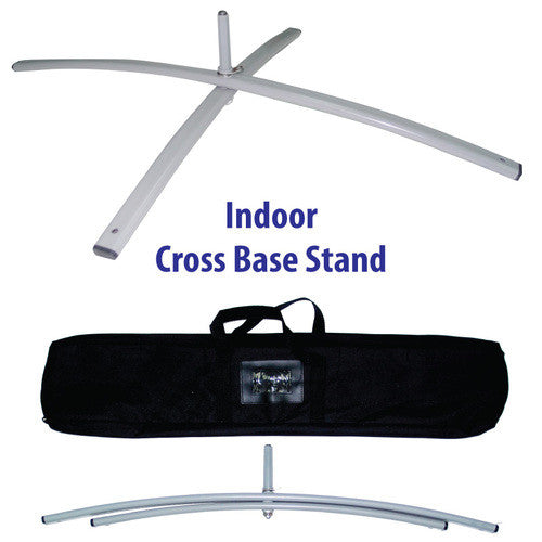 Indoor Cross Base Stand (Feather Flag)