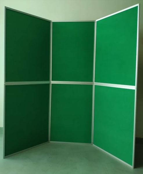 6P-folding display board - 6 panel-6 feet - GREEN