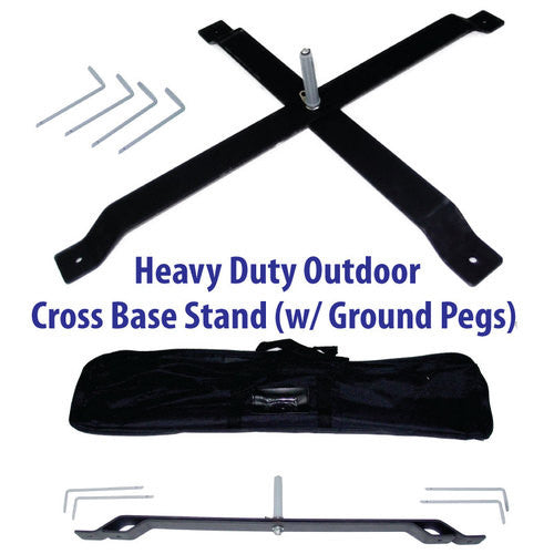 Outdoor Cross Pole Stand (Feather Flag)
