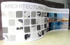 Tension Fabric Display S Shape 20 ft
