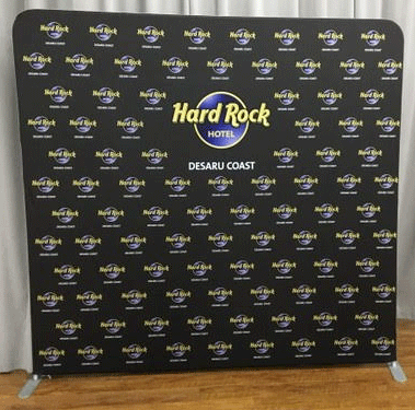 8FT Flat Tension Fabric Backdrop
