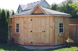 #135 Five Sided Cabana/Shed 10x10' - Maxwell Garden Centre