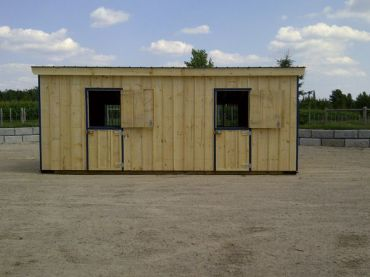 #HRB12X24 12X24' Portable Row Barn W/Slant Roof