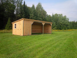 ##HS12X30WT 12x30' Horse Run-in with 6ft Tack Room - Maxwell Garden Centre