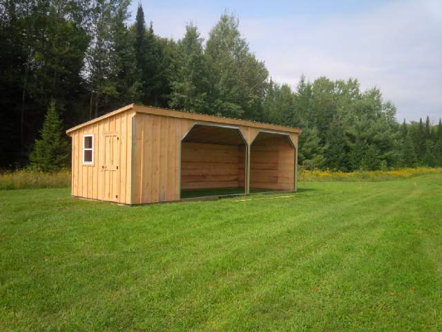 ##HS12X30WT 12x30' Horse Run-in with 6ft Tack Room
