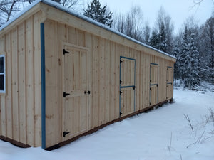 #HRBT12X36 12X36' Portable Row Barn W/Tack Room - Maxwell Garden Centre