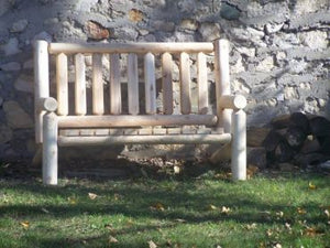 #L220 Standard Log Bench - Maxwell Garden Centre