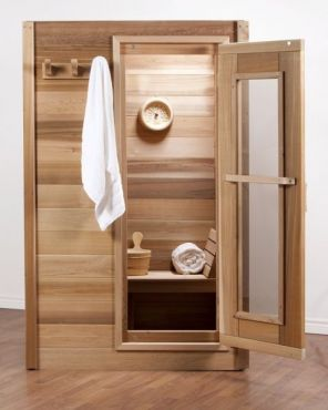 #LS670 Indoor Clear Western Red Cedar Sauna 6'x7'