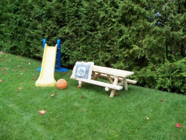 #L413 Kids Log Picnic Table