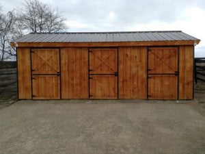 #HRB12X24 12X24' Portable Row Barn - Maxwell Garden Centre