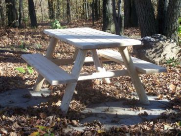 #L415 Log Picnic Table