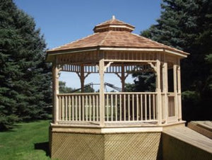 The 14' Alpine Octagon Gazebo - Maxwell Garden Centre