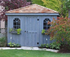 #114 Style Cottage Roof Garden Shed - Maxwell Garden Centre