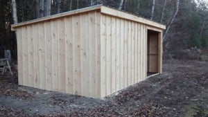 #145 12x20' Slant Roof Style Shed - Maxwell Garden Centre