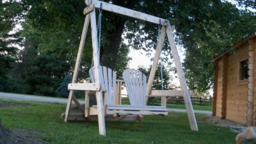 Muskoka  A Frame Swing Set