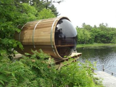 Panoramic View Barrel Saunas