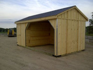 #HS10X20WT 10x20' Horse Run-in with 6ft Tack Room - Maxwell Garden Centre