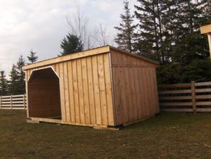 #HS10X20W10O 10x20' Portable Horse Run-In W/10FT Opening - Maxwell Garden Centre