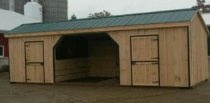 #HRBR12X32' Portable Row Barn/Run-In - Maxwell Garden Centre