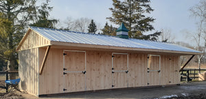 #HRBO18X36  Portable Row Barn W/6ft Overhang - Maxwell Garden Centre