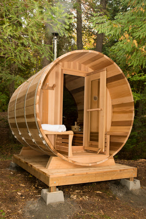 Panoramic View Barrel Saunas - Maxwell Garden Centre