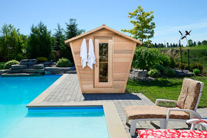 Clear Western Red Cedar Eagle Nest Saunas - Maxwell Garden Centre