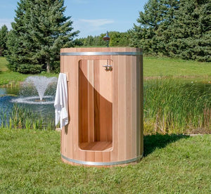 #580S Rainbow Outdoor Cedar Barrel Shower - Maxwell Garden Centre