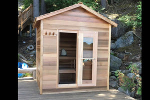 Outdoor Red Cedar Cabin Sauna - Maxwell Garden Centre