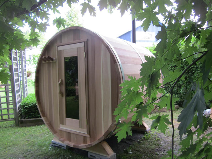 Cedar Barrel Sauna - Clear Western Red Cedar