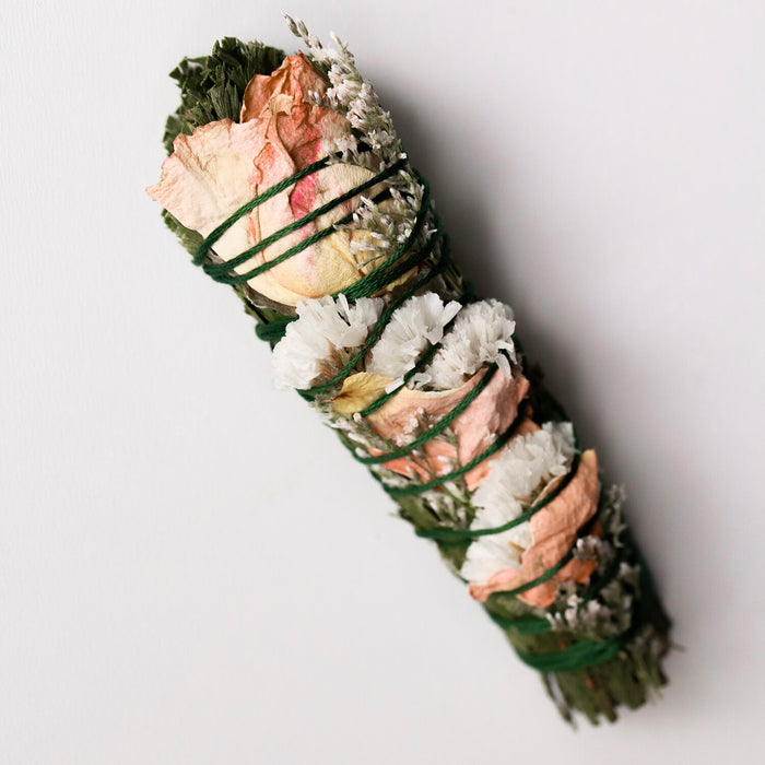 Cedar and Rose Smudge stick