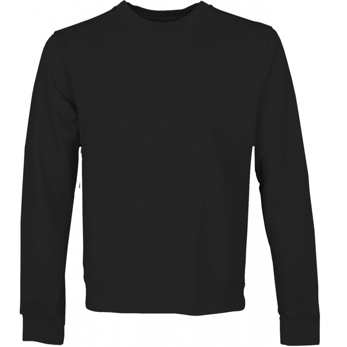Women Classic Organic Crew Sweatshirt in Deep Black