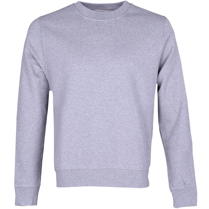 Women Classic Organic Crew Sweater in Heather Grey