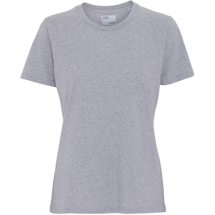 Classic Organic Women light Tee heather grey