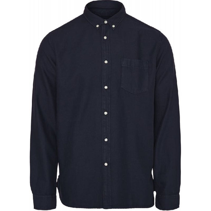 Larch casual fit tercel shirt in navy