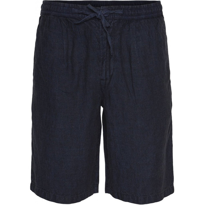 BIRCH loose linen shorts vegan in navy