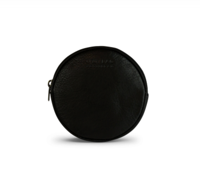 Luna purse soft grain black leather