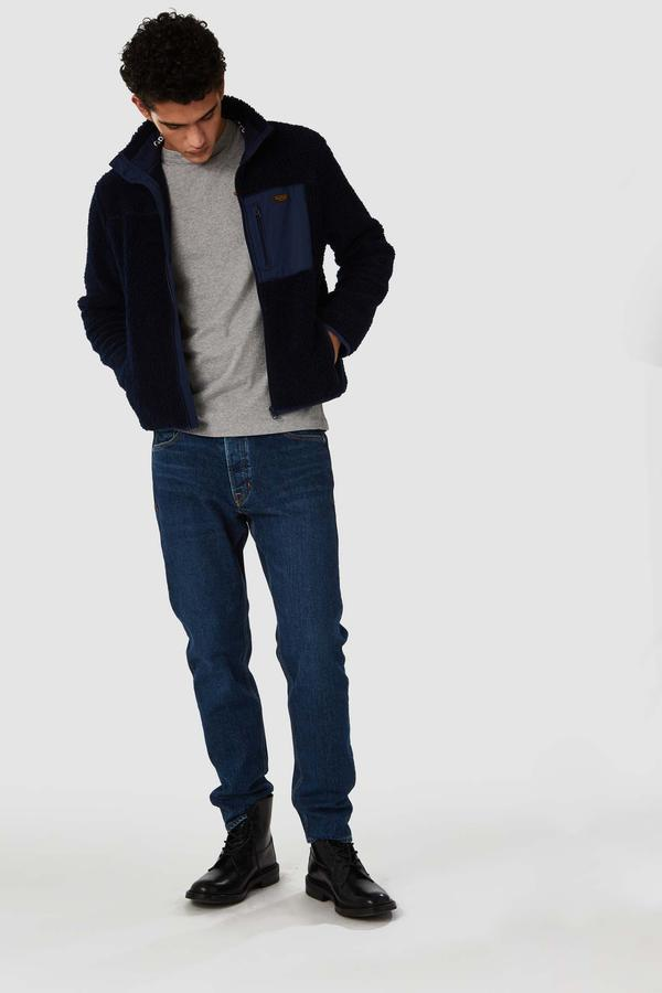 Daniel relaxed tapered denim in xavier indigo blue