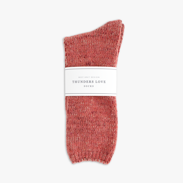 Recycled Wool socks in pink