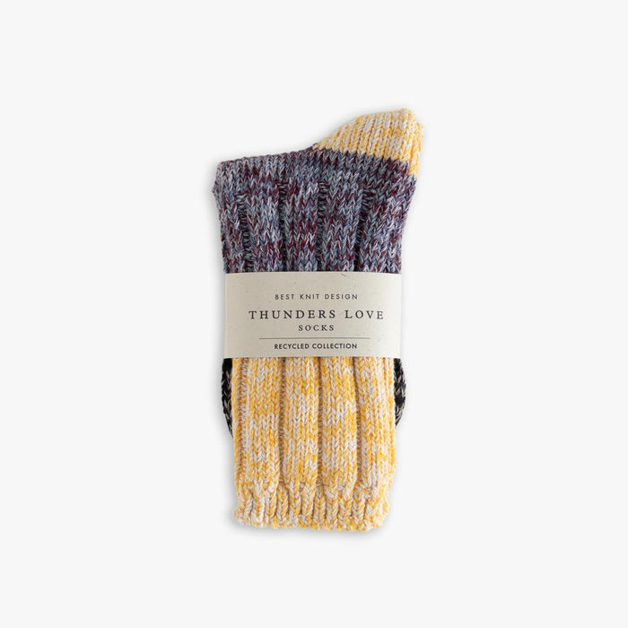 Recycled Helen Collection Yellow Love socks