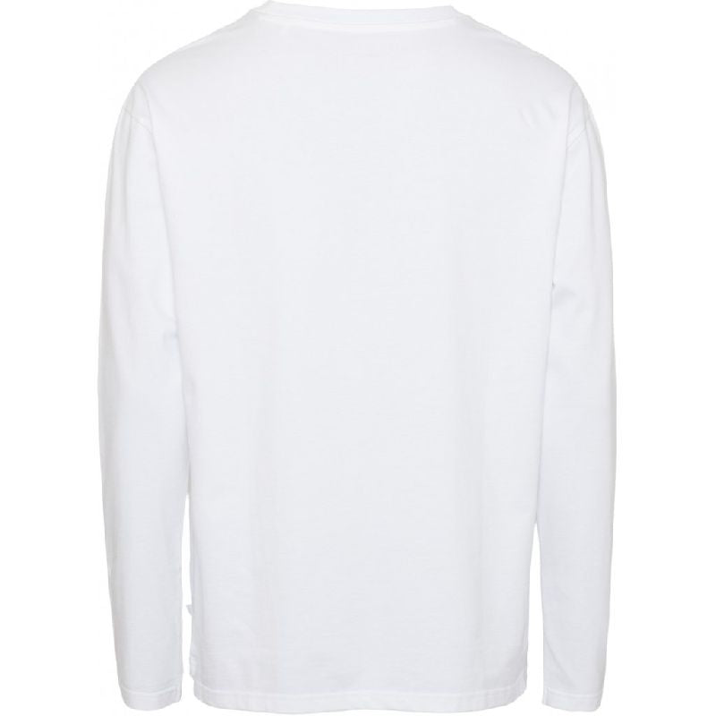 Walnut heavy organic cotton long sleeve in white