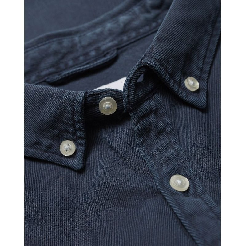 Larch casual fit tencel shirt in navy