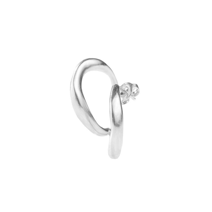 Bold Ear Piece Silver left