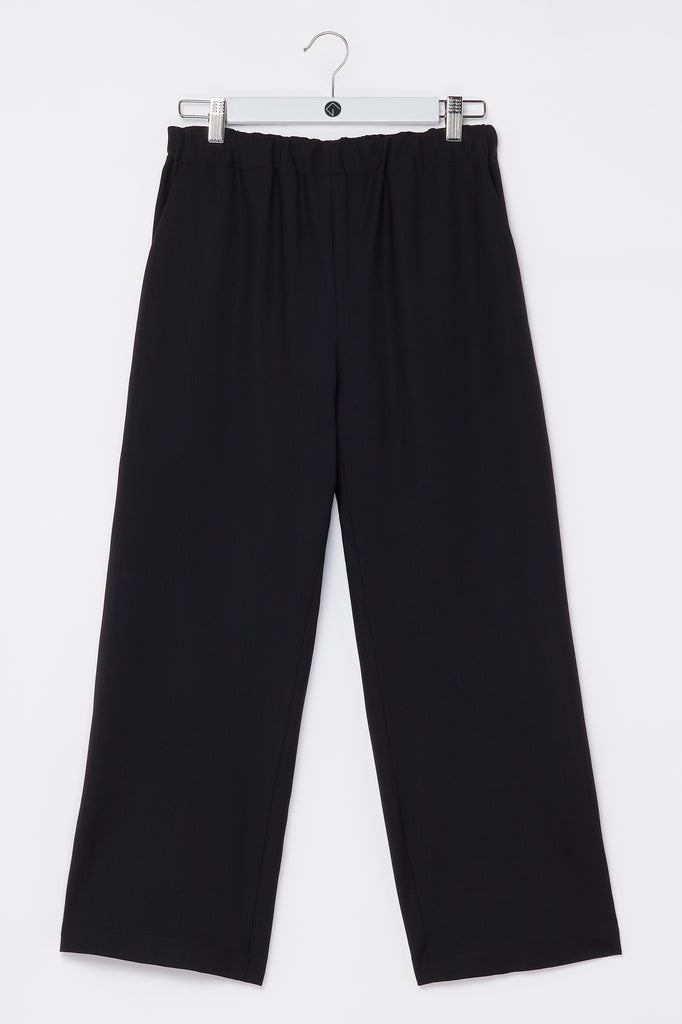 Trousers cropped black