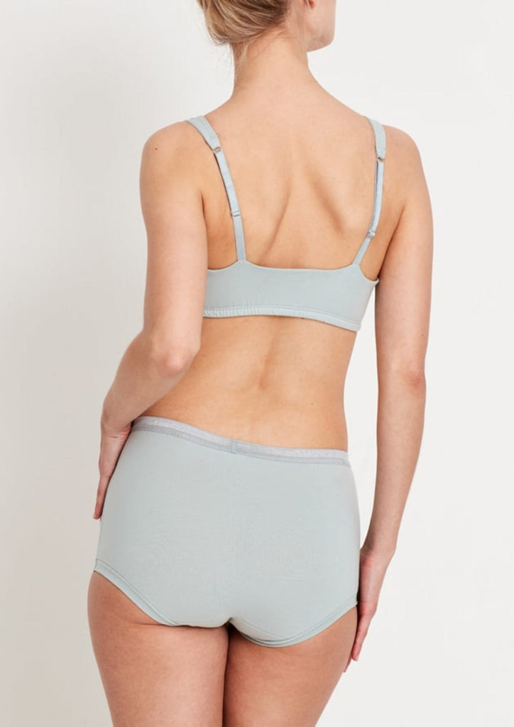 Organic cotton high rise brief in mint