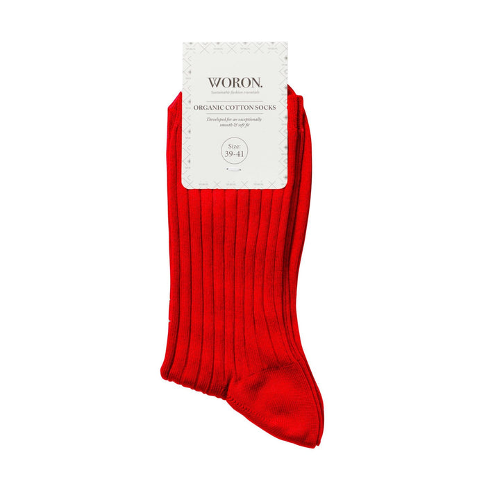 organic cotton socks in red
