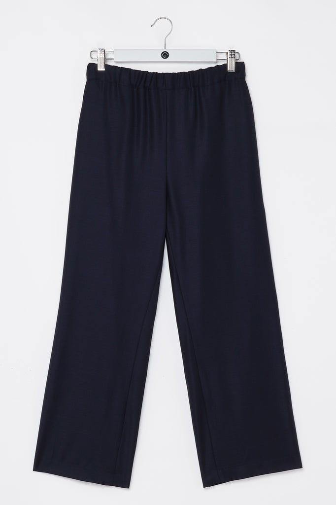 Trousers cropped dark blue