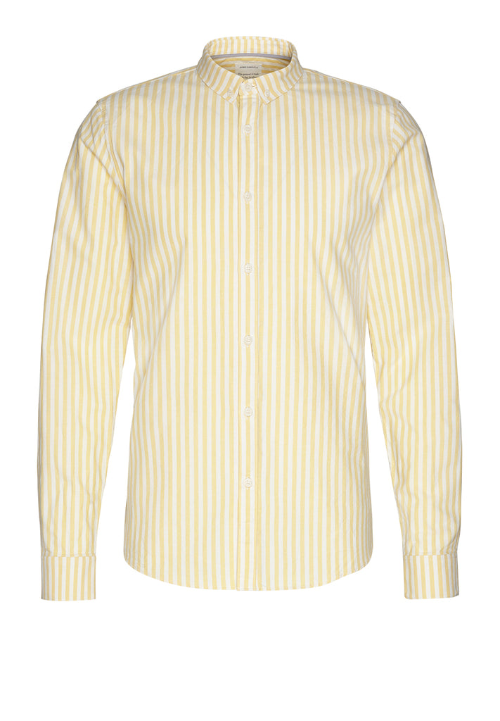 Tymaan Shirt stripes in lemon yellow