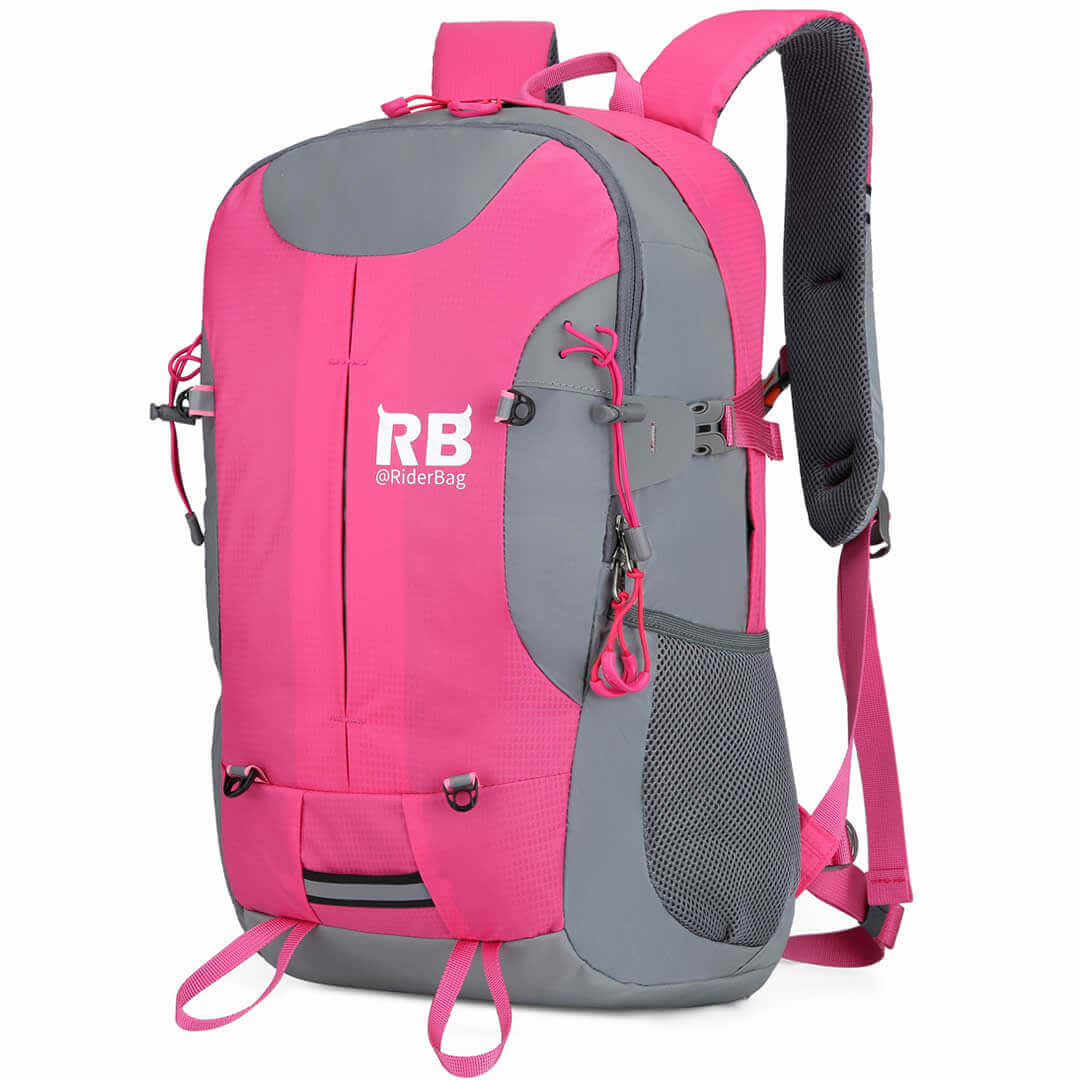 Pink Reflective Bike and Outdoor Backpack |Riderbag Reflektor35